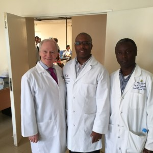 Dr. Adamson and fellow surgeons in Rwanda, 2015